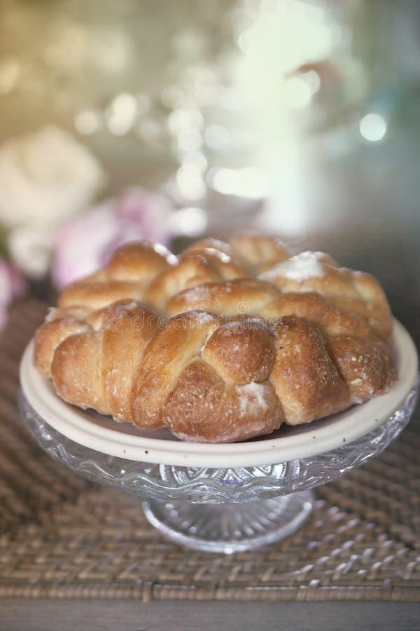 Zoet brood, cake stock afbeelding