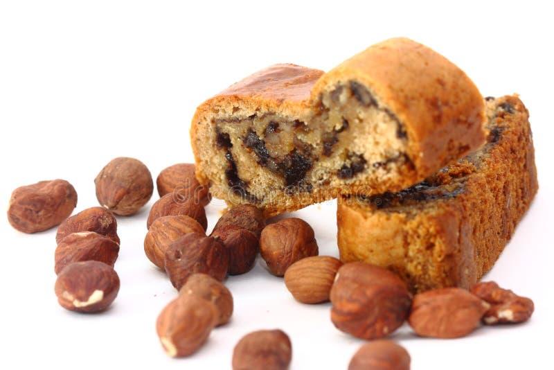 Zoet die broodje met papaverzaad wordt gevuld royalty-vrije stock afbeelding