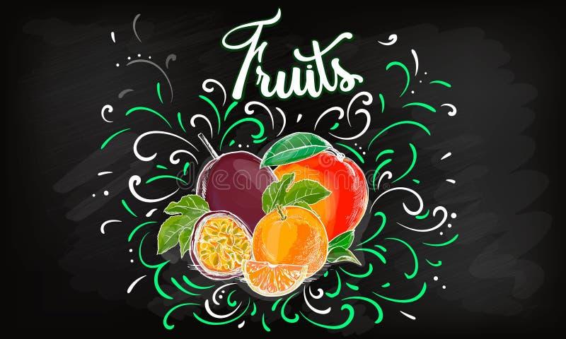 Zoet het ontwerpmalplaatje van het appel vectorembleem vers fruit, voedsel of menuraadspictogram Vector illustratie royalty-vrije illustratie