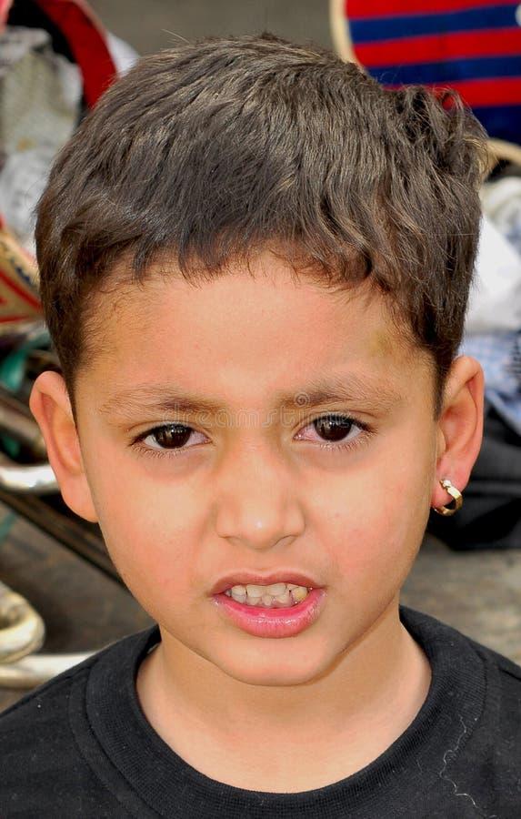 Zoet Indisch kind stock fotografie