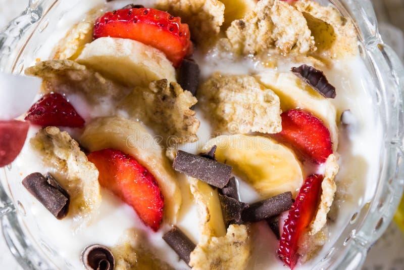 Zoet ontbijt stock afbeeldingen