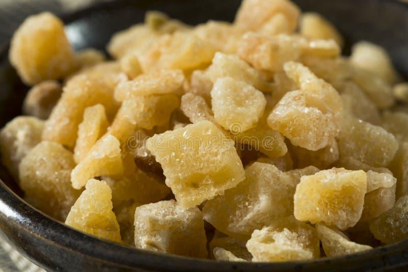 Zoet Organisch Gekristalliseerd Ginger Candy royalty-vrije stock afbeeldingen