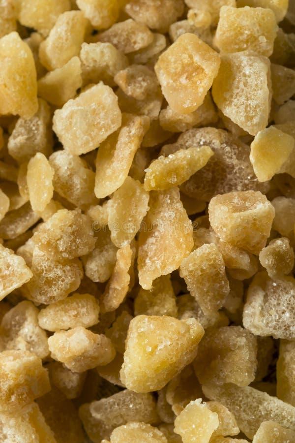 Zoet Organisch Gekristalliseerd Ginger Candy stock afbeelding