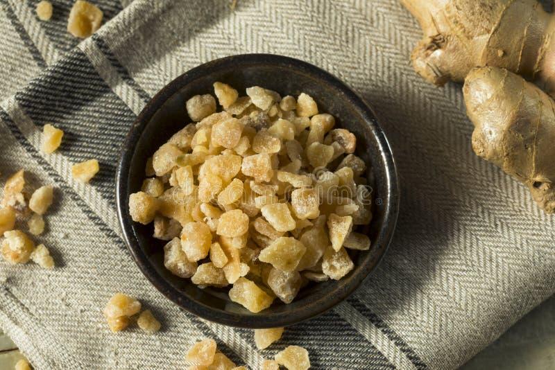 Zoet Organisch Gekristalliseerd Ginger Candy stock afbeeldingen