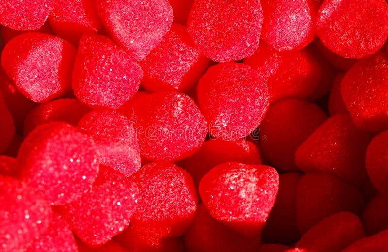 Zoet rood suikergoed royalty-vrije stock foto's