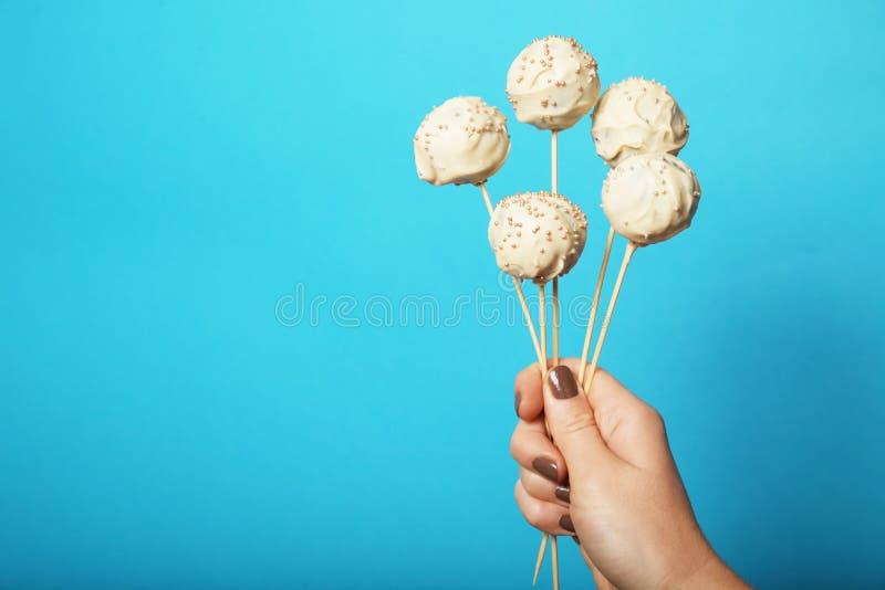 Zoet suikergoeddessert, pop cake royalty-vrije stock fotografie