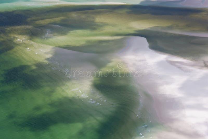 Zoet water die strand behandelen stock afbeeldingen
