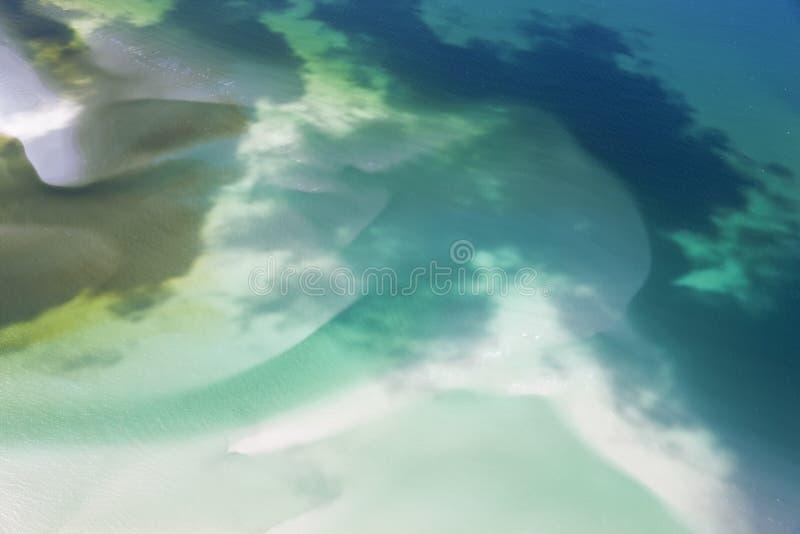 Zoet water die strand behandelen stock foto
