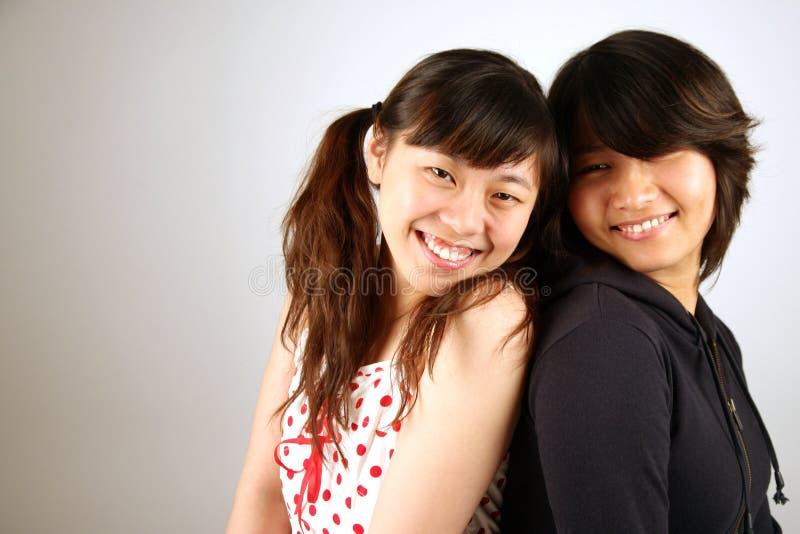 Zoete Aziatische Chinese meisjes stock afbeeldingen
