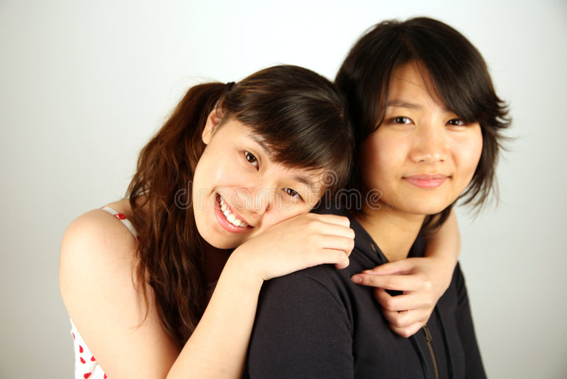 Zoete Aziatische Chinese meisjes stock foto