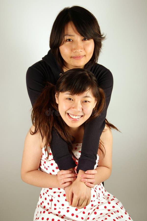 Zoete Aziatische Chinese meisjes royalty-vrije stock foto