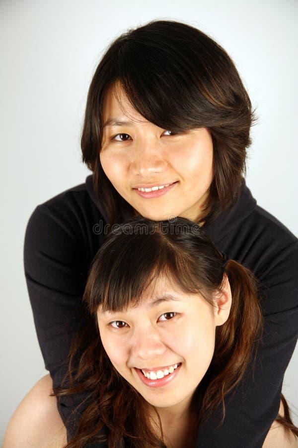 Zoete Aziatische Chinese meisjes royalty-vrije stock fotografie
