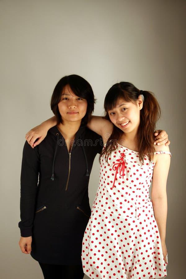 Zoete Aziatische Chinese meisjes stock fotografie