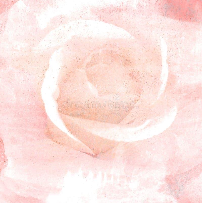 Zoete bloemen in uitstekende kleur op document textuur royalty-vrije stock fotografie