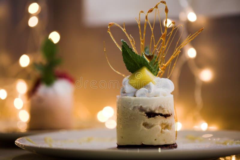 Zoete cake dichte omhooggaand stock afbeeldingen