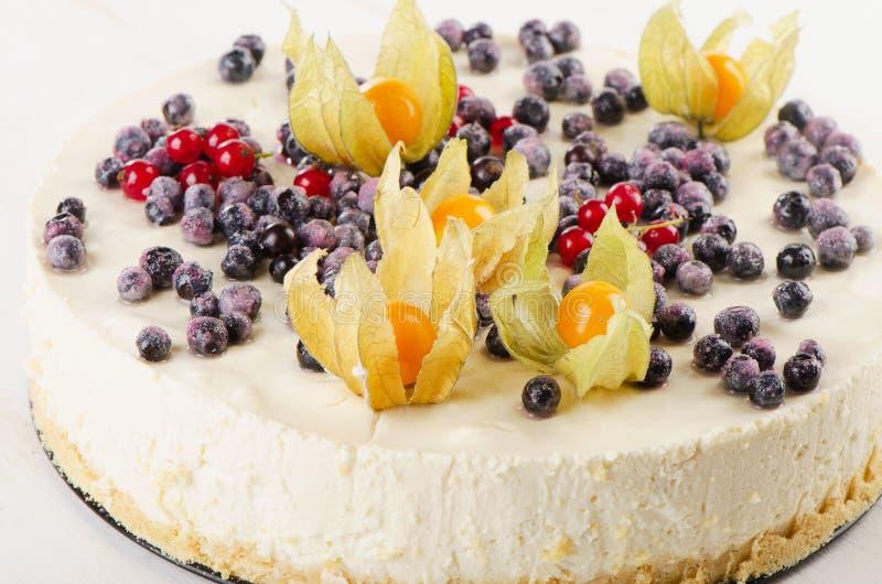 Zoete Cake met roomkaas royalty-vrije stock afbeelding