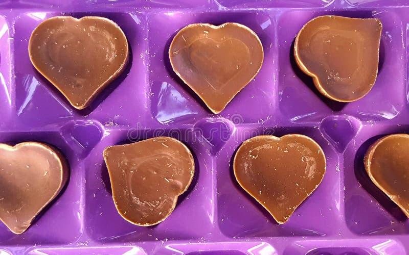 Zoete chocoladeharten stock fotografie
