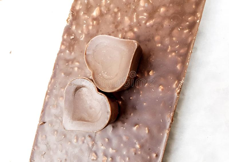 Zoete chocoladeharten royalty-vrije stock foto