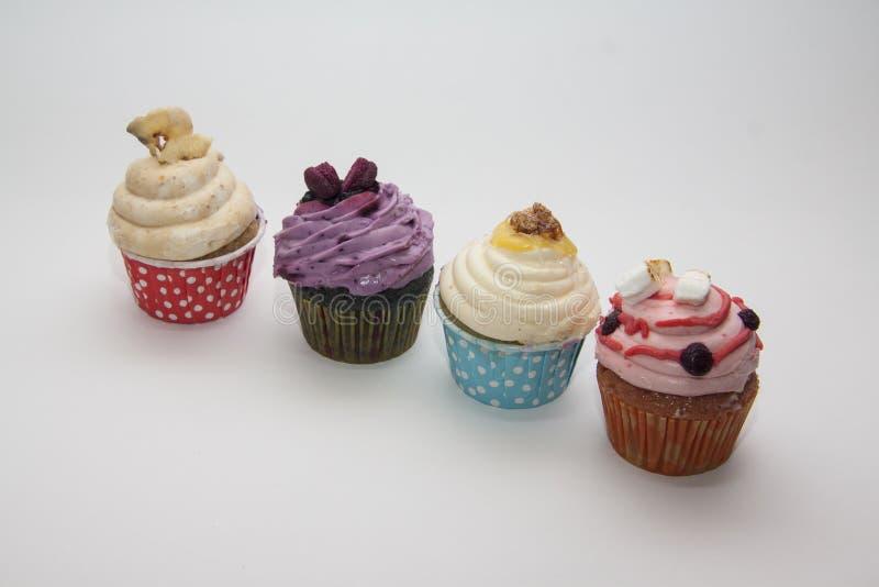 Zoete cupcakes met exemplaarruimte voor tekst stock fotografie