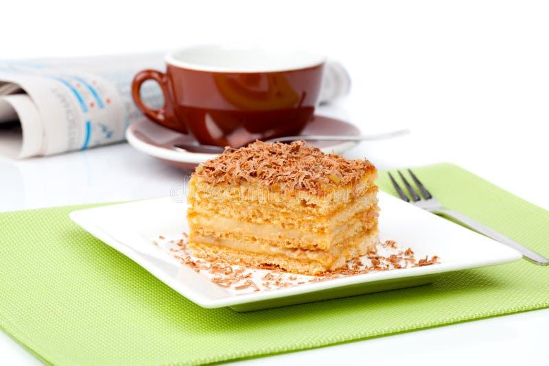 Zoete dessertcakes royalty-vrije stock foto