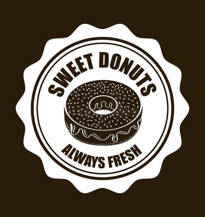 Zoete Donuts vector illustratie