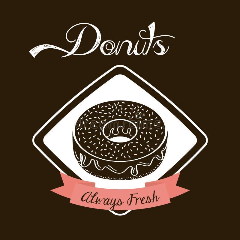 Zoete Donuts royalty-vrije illustratie