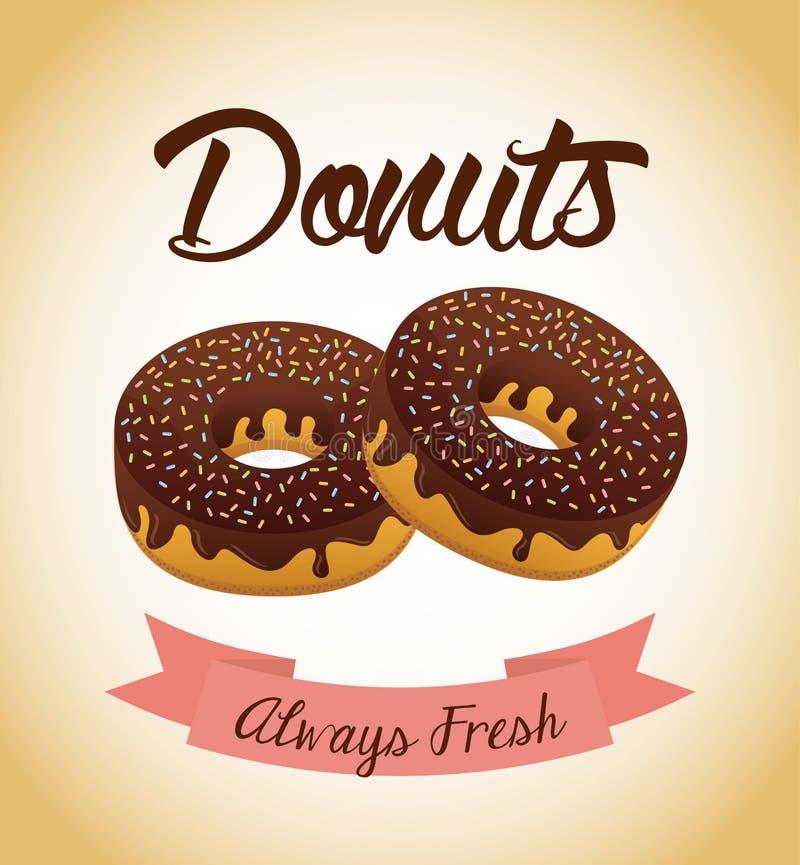 Zoete Donuts stock illustratie