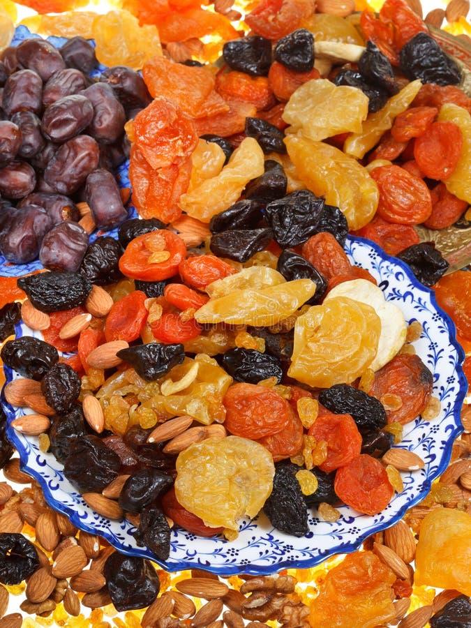 Zoete droge vruchten stock afbeeldingen