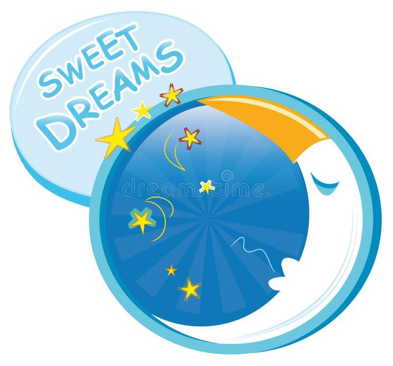 Zoete dromen vector illustratie