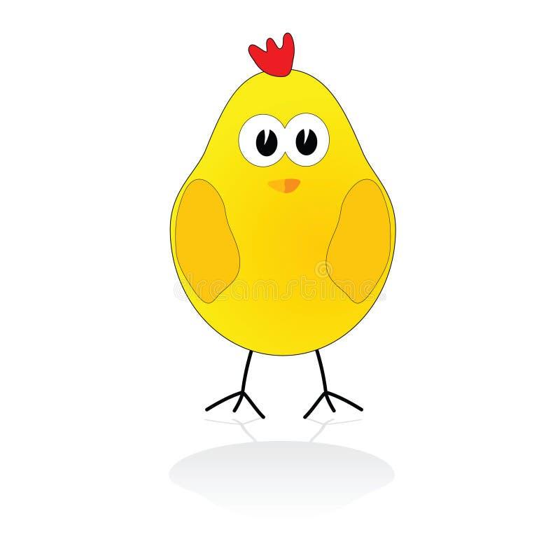 Zoete en leuke kippen vectorillustratie stock illustratie