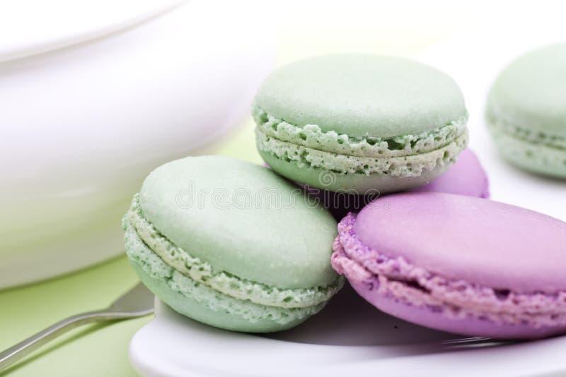 Zoete Franse koekjes - makaron stock foto