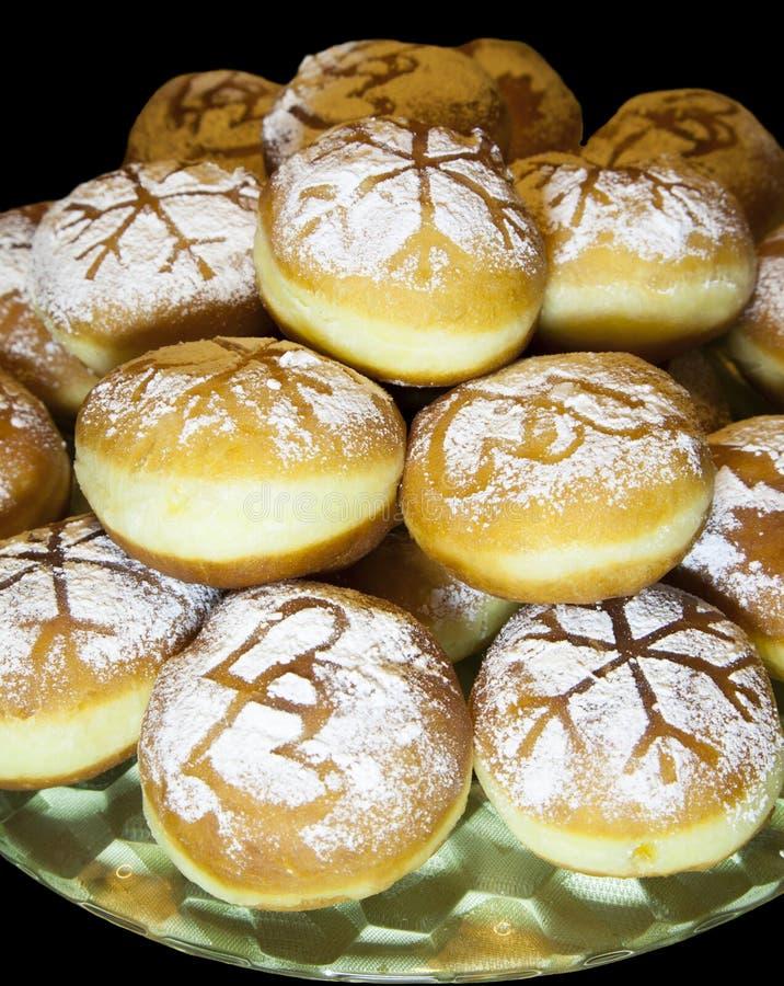 Zoete gebakken vers donuts stock afbeelding
