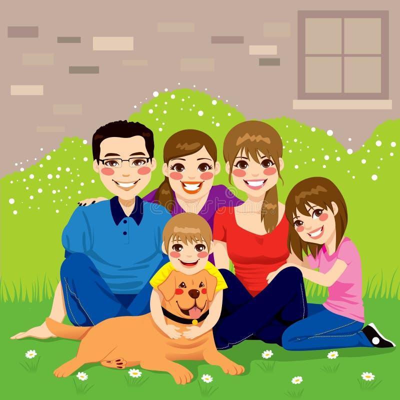 Zoete Gelukkige Familie stock illustratie