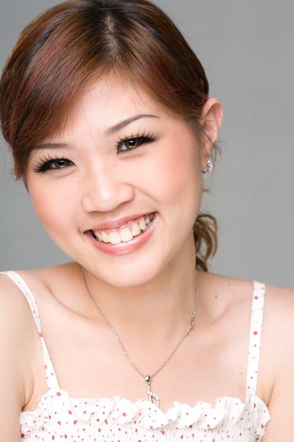 Zoete gelukkige glimlach 2 stock fotografie