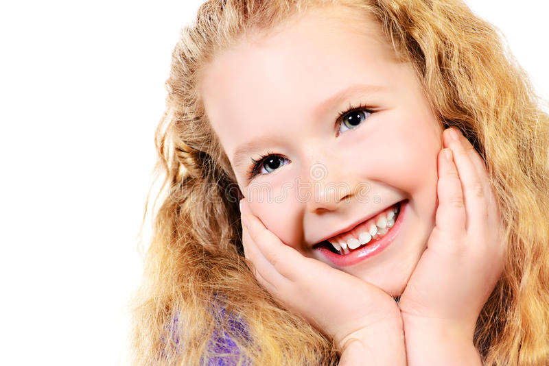 Zoete glimlach stock afbeeldingen
