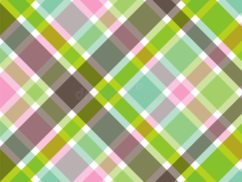 Zoete groene en roze plaid stock illustratie