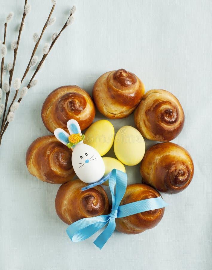 Zoete het Broodkroon van Pasen stock afbeelding
