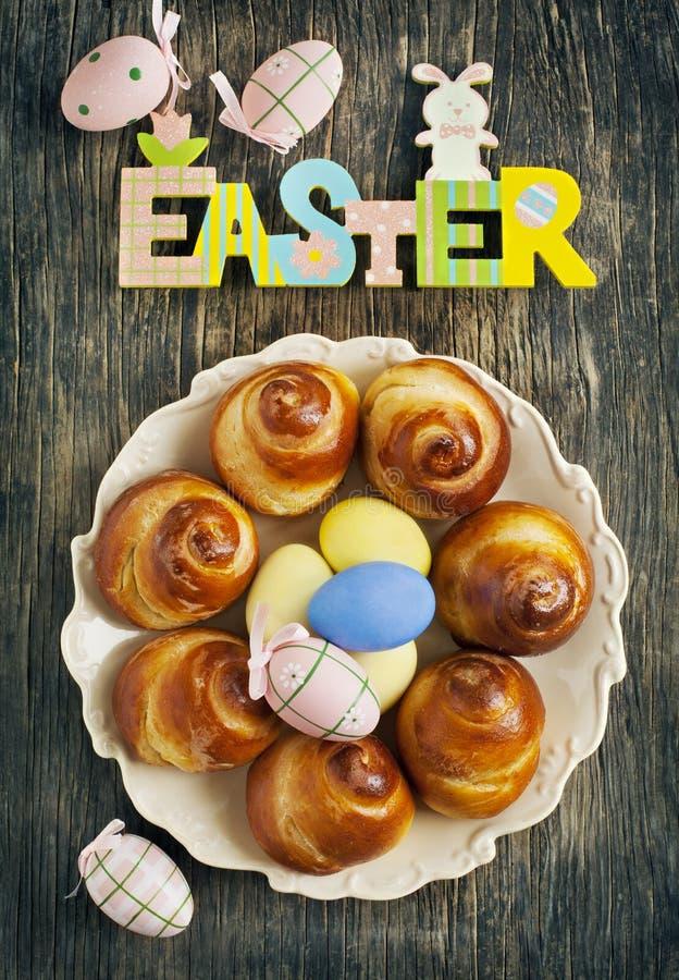 Zoete het Broodkroon van Pasen stock afbeeldingen