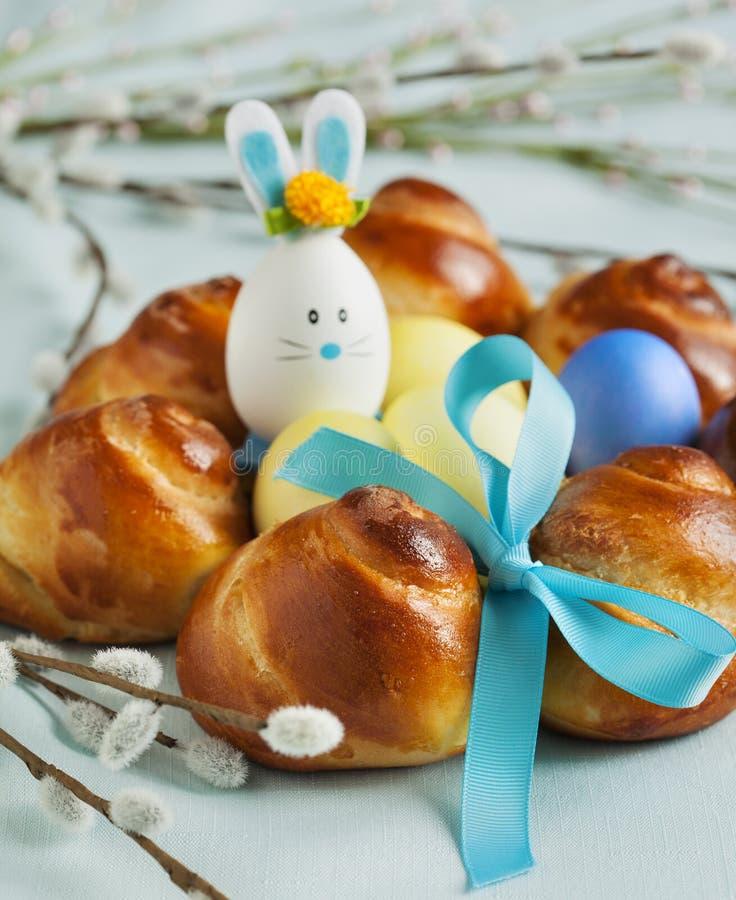 Zoete het Broodkroon van Pasen stock foto's