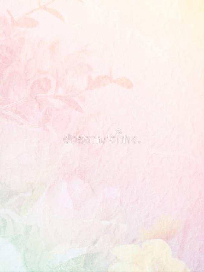 Zoete kleurenbloem op moerbeiboomdocument voor achtergrond royalty-vrije stock foto