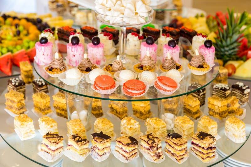 Zoete lijst Cateringsvoedsel royalty-vrije stock afbeeldingen