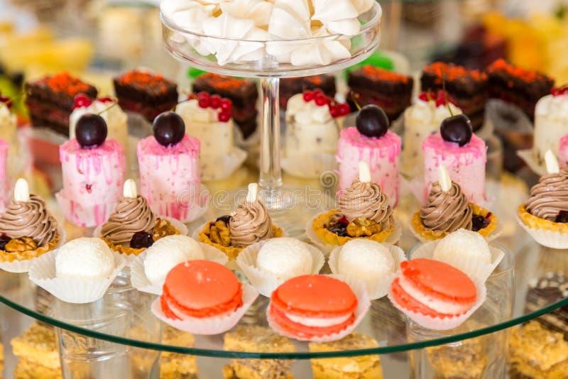 Zoete lijst Cateringsvoedsel royalty-vrije stock afbeelding