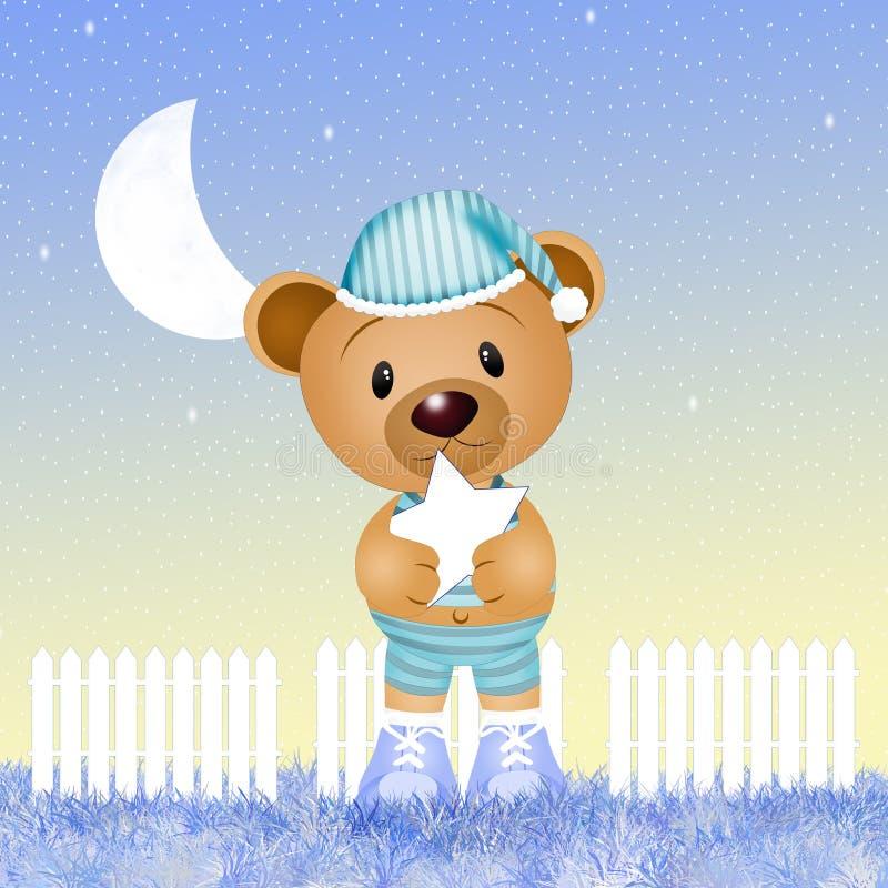 Zoete nacht vector illustratie