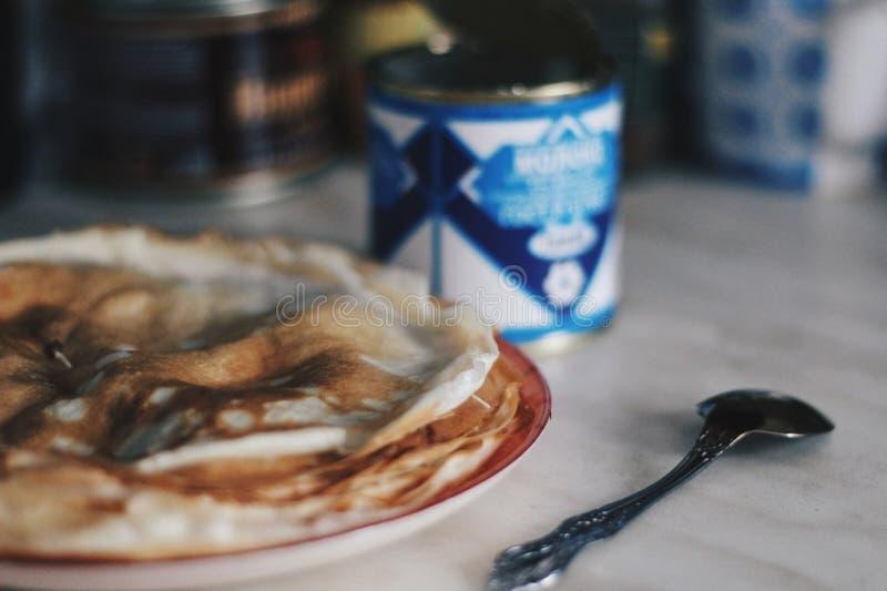 Zoete pannekoekweek stock afbeeldingen