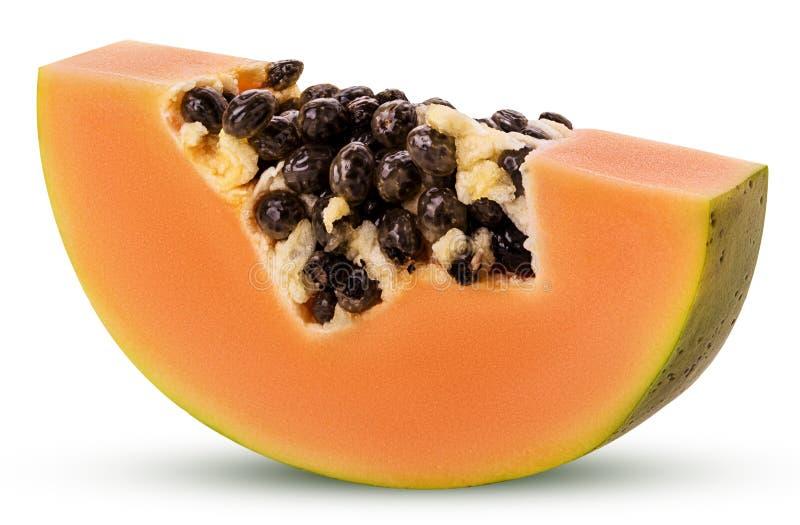 Zoete papajaplak stock afbeeldingen