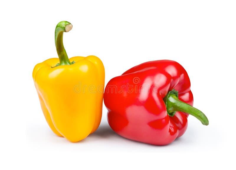 Zoete rode en gele peper stock afbeeldingen