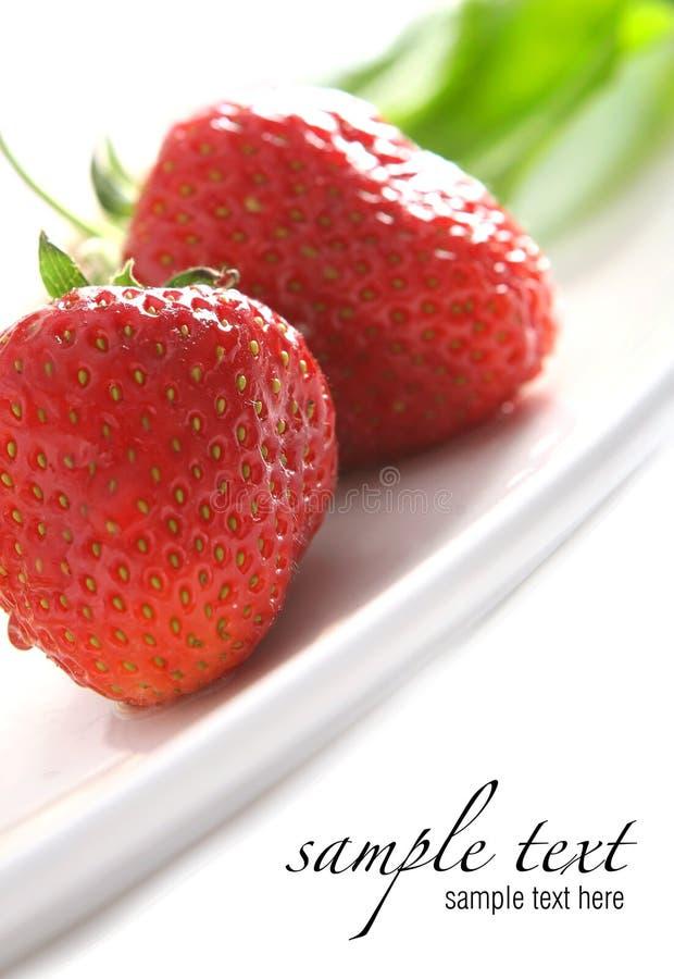 Zoete sappige rode aardbeien royalty-vrije stock foto