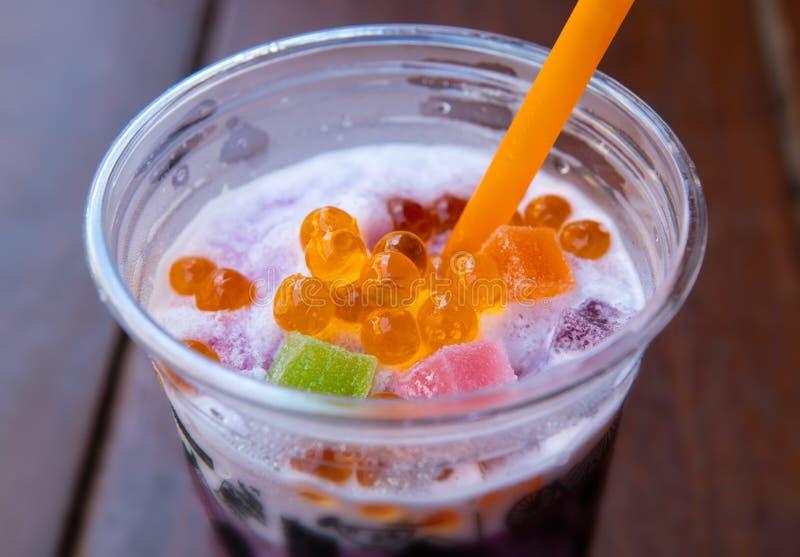 Zoete soda smoothie met gelei royalty-vrije stock afbeelding
