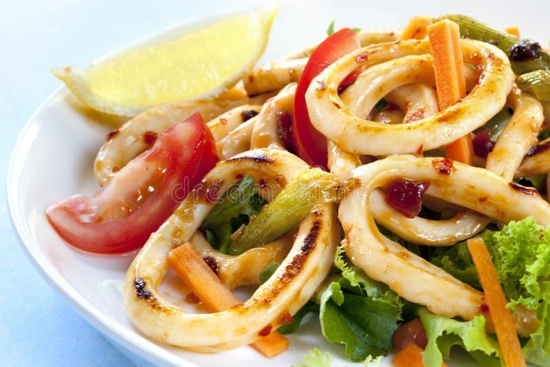 Zoete Spaanse peper Calamari stock afbeeldingen