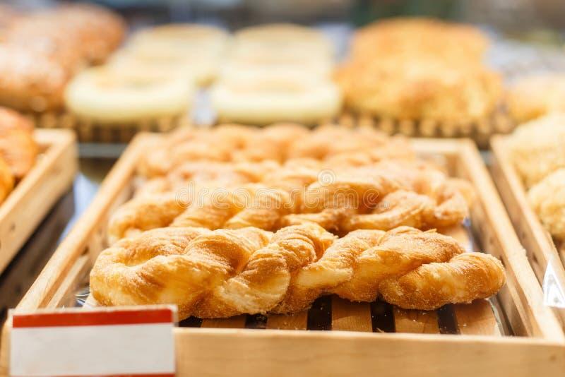 Zoete suikercakes Voedselwinkel stock foto's